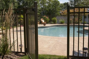 fence gate near pool