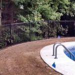 aluminium fence near pool