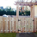 custom design wooden fence