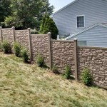 rock fence at slope terrain