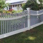 beautiful white fence