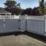white fence outside view