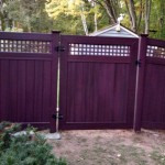 wooden fence with gate installed