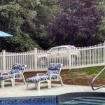 White fence inside pool