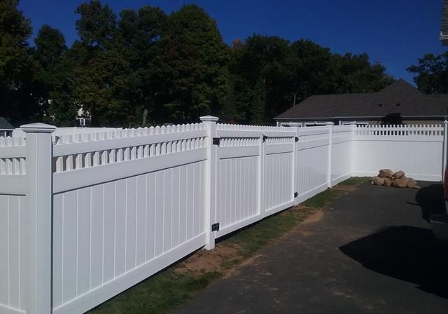 white fence inside view